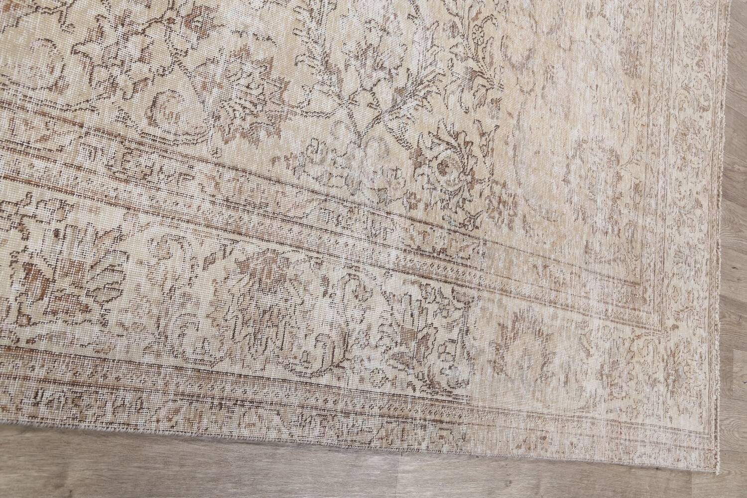 Antique Muted Floral Tabriz Persian Area Rug 9x12 image 15
