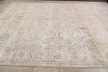 Antique Muted Floral Tabriz Persian Area Rug 9x12 image 13