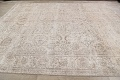 Antique Muted Floral Tabriz Persian Area Rug 9x12 image 16