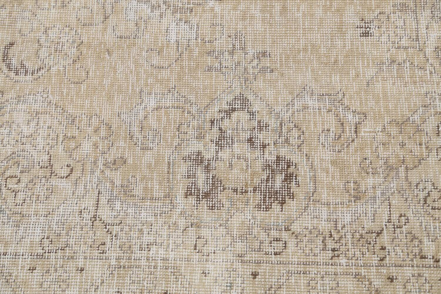 Antique Muted Floral Tabriz Persian Area Rug 9x13 image 9