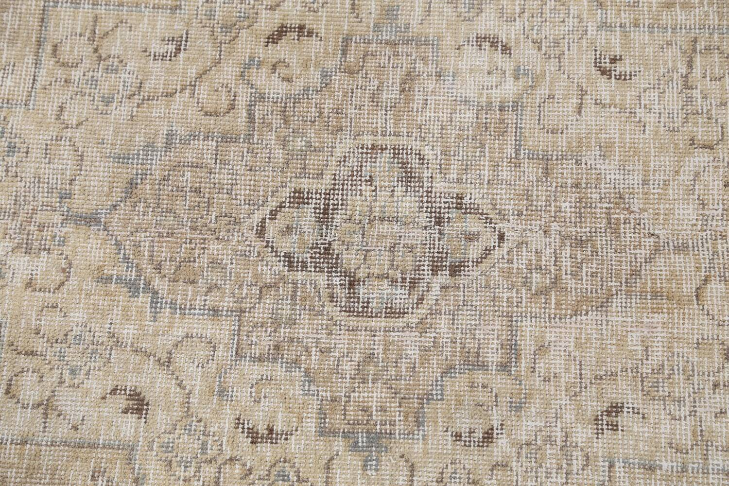 Antique Muted Floral Tabriz Persian Area Rug 9x13 image 11