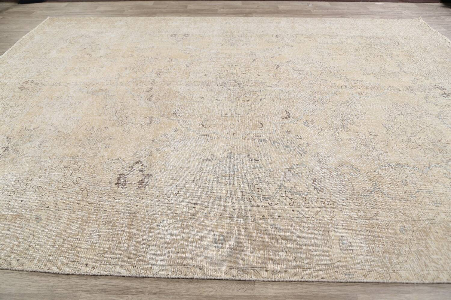 Antique Muted Floral Tabriz Persian Area Rug 9x13 image 14