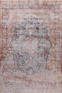 Antique Distressed Muted Kerman Persian Area Rug 10x13