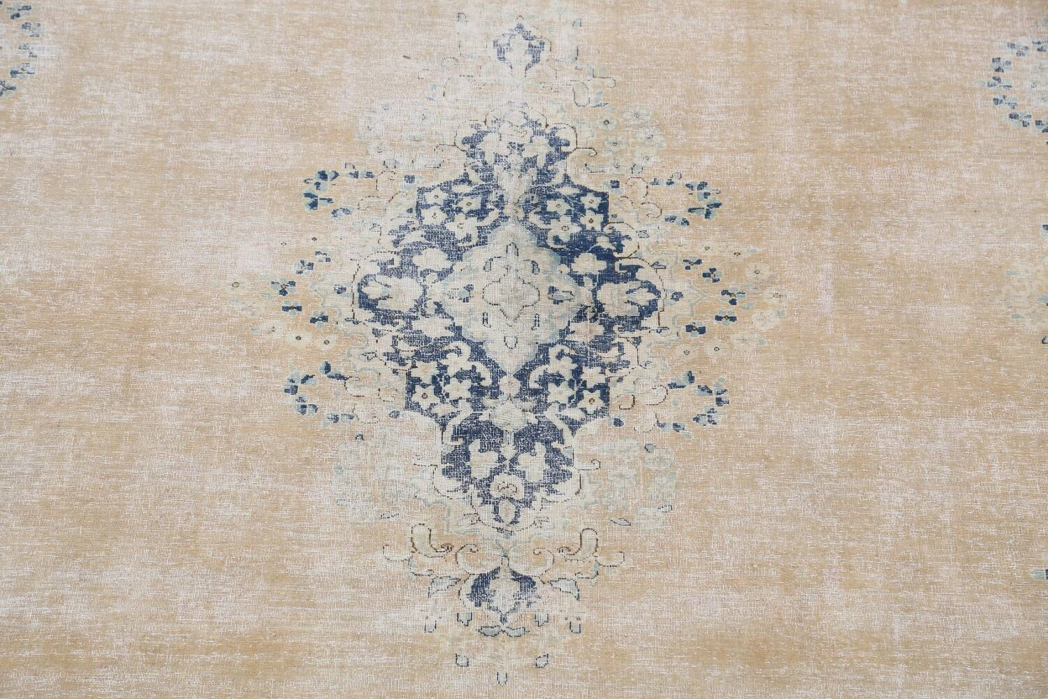 Antique Muted Floral Kerman Persian Area Rug 9x11 image 4