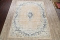 Antique Muted Floral Kerman Persian Area Rug 9x11 image 2