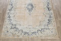 Antique Muted Floral Kerman Persian Area Rug 9x11 image 8