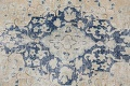 Antique Muted Floral Kerman Persian Area Rug 9x11 image 11