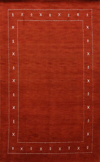 Contemporary Gabbeh Tribal Oriental Area Rug 6x9