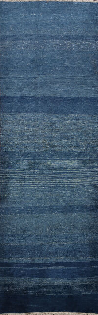 Thick Pile BLUE Gabbeh Persian Runner Rug 3x9