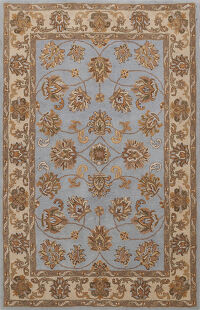 All-Over Floral Agra Oriental Area Rug 5x7