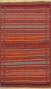 Striped Kilim Persian Area Rug 3x5