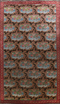 Pre-1900 Antique Vegetable Dye Tabriz Persian Area Rug 10x21