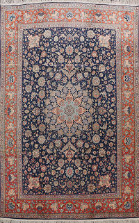 100% Vegetable Dye Floral Isfahan Persian Area Rug 8x12