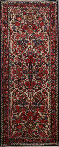 Vintage Floral Lilian Persian Runner Rug 3x7