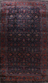 Antique Vegetable Dye Kashan Persian Area Rug 12x21 Large