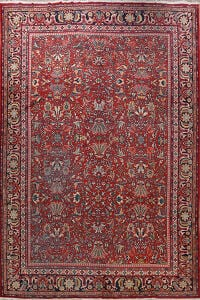 Antique Vegetable Dye Sarouk Persian Area Rug 11x14