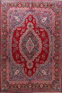 Vintage Floral Red Mood Persian Area rug 10x14