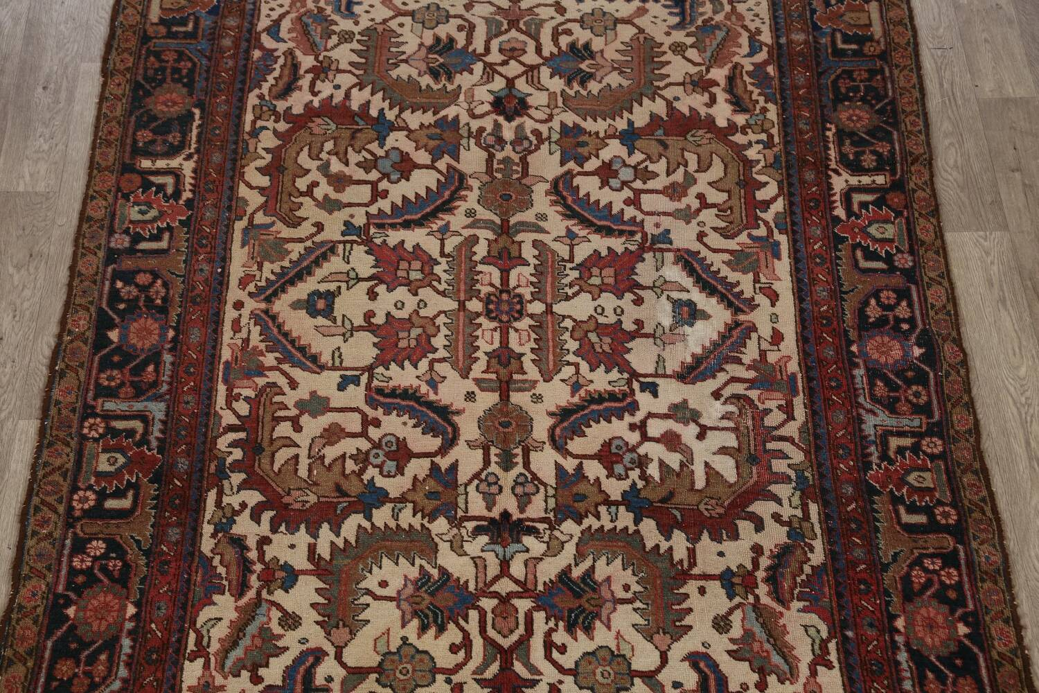Antique All-Over Heriz Persian Area Rug 6x9 image 3