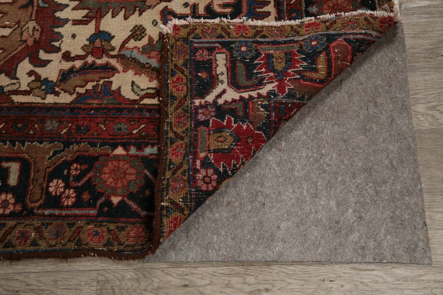 Antique All-Over Heriz Persian Area Rug 6x9 image 7