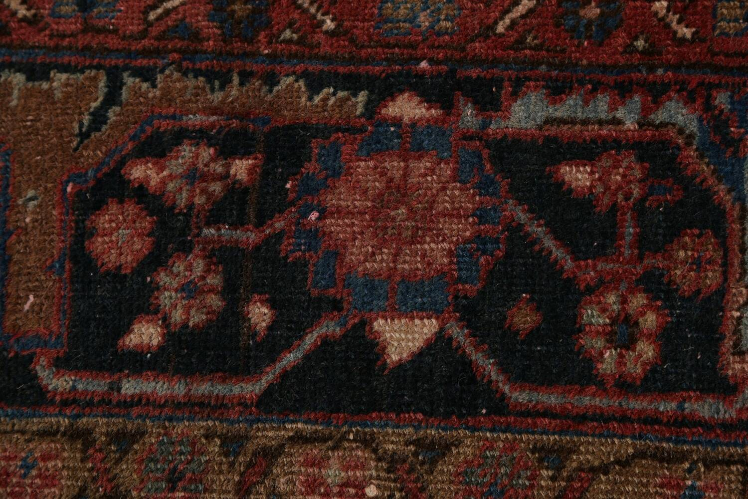 Antique All-Over Heriz Persian Area Rug 6x9 image 9