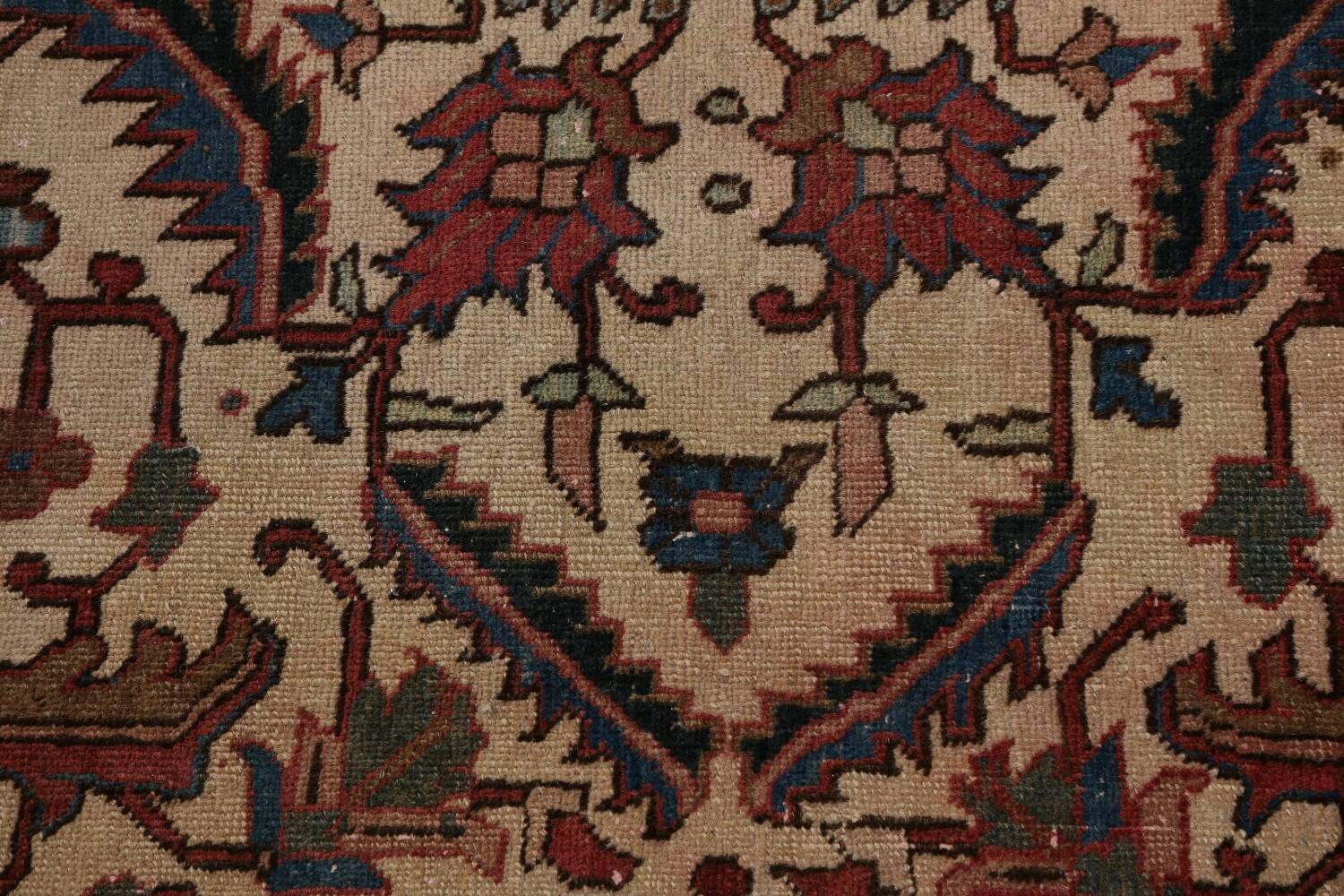 Antique All-Over Heriz Persian Area Rug 6x9 image 10