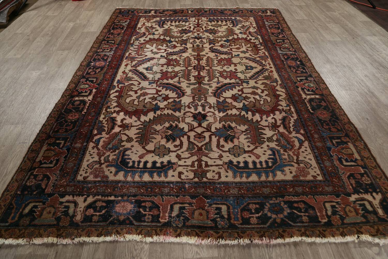 Antique All-Over Heriz Persian Area Rug 6x9 image 17