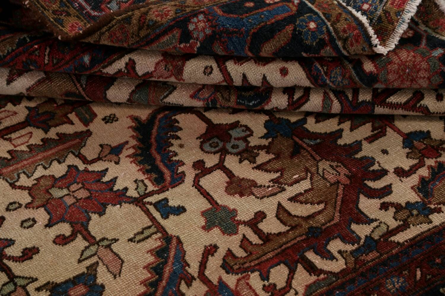 Antique All-Over Heriz Persian Area Rug 6x9 image 18