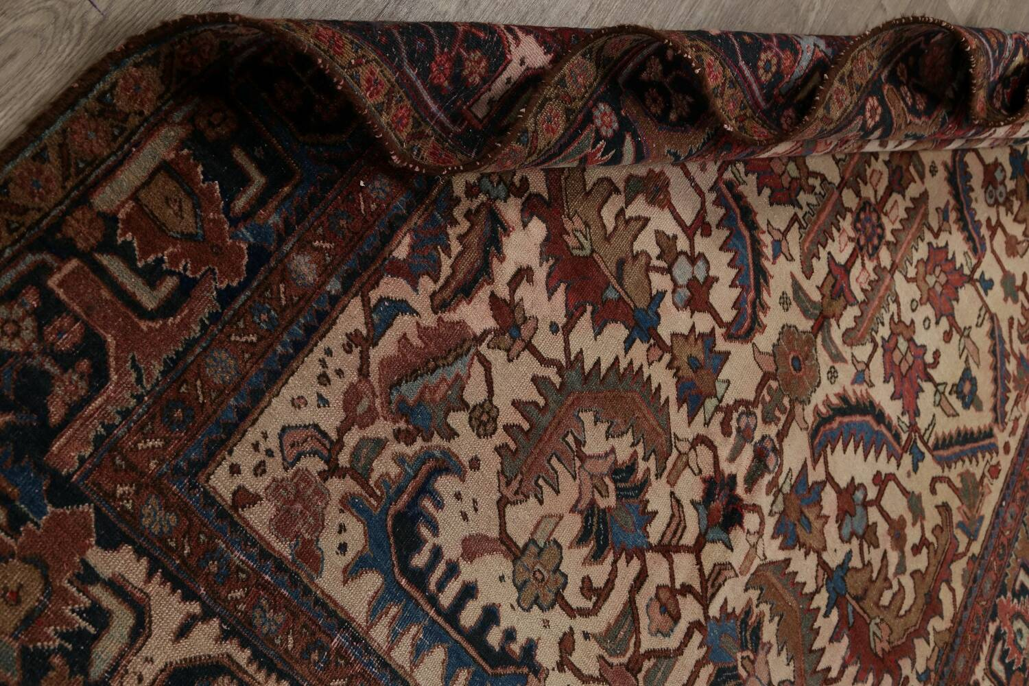 Antique All-Over Heriz Persian Area Rug 6x9 image 19