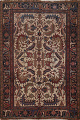 Antique All-Over Heriz Persian Area Rug 6x9 image 1