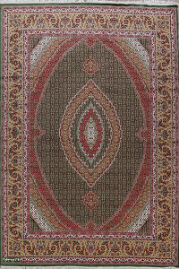 Green Tabriz Turkish Oriental Area Rug 10x13