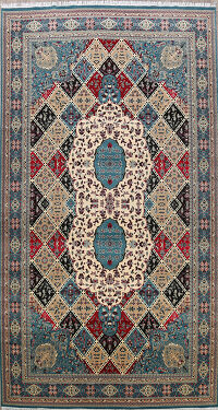 Geometric Tabriz Turkish Oriental Area Rug 10x17