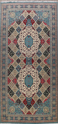 Geometric Tabriz Turkish Oriental Area Rug 10x23