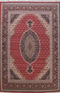 Red Geometric Tabriz Turkish Oriental Area Rug 10x13