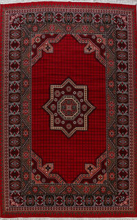Geometric Red Aubusson Turkish Oriental Area Rug 10x13
