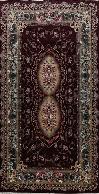 Floral Aubusson Turkish Oriental Area Rug 10x17
