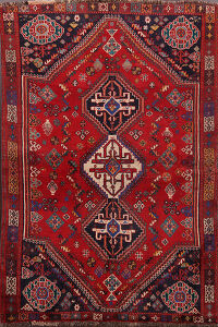 Antique Shiraz Persian Area Rug 4x6
