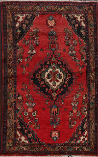Red Hamedan Persian Area Rug 4x6