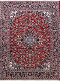Floral Kashan Turkish Area Rug 10x12