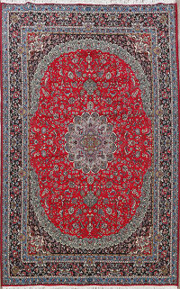Traditional Kashan Oriental Area Rug 8x11