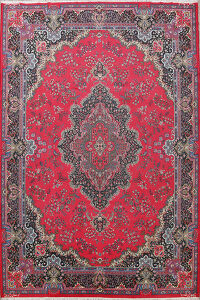 Traditional Kerman Oriental Area Rug 10x13