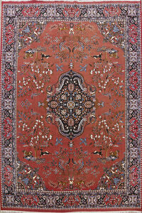 Animal Pictorial Kerman Oriental Area Rug 10x13