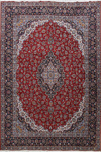 Traditional Kashan Oriental Area Rug 10x12