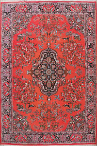 Animal Pictorial Floral Kashmar Turkish Area Rug 10x13