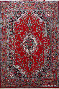 Floral Kashan Turkish Area Rug 10x13