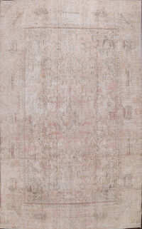 Antique Muted Kashmar Persian Area Rug 9x12