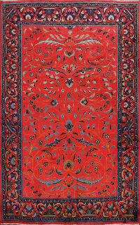 Floral Sultanabad Persian Area Rug 7x9