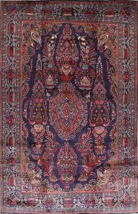 Animal Pictorial Paisley Kashmar Persian Area Rug 9x13