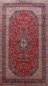 Large Floral Kashan Persian Area Rug 10x15