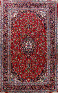 Red Kashan Persian Area Rug 10x14