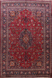 Red Mashad Persian Area Rug 10x13